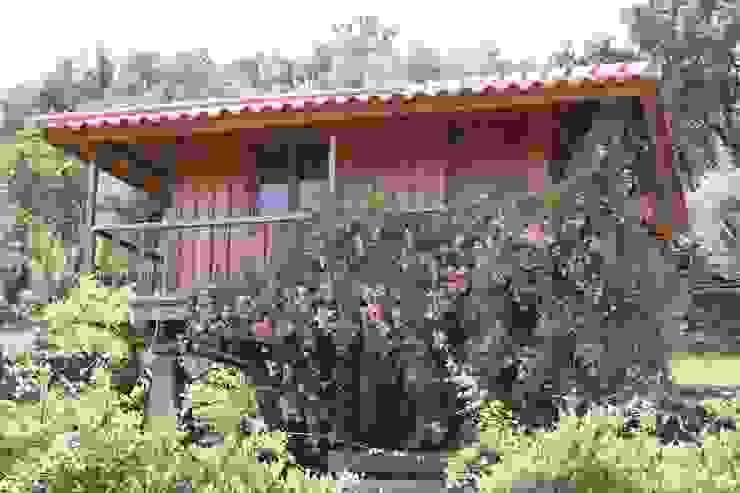 Hotéis rústicos por EC-BOIS Rústico Madeira Acabamento em madeira