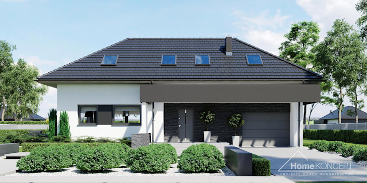 Maisons de style  par HomeKONCEPT | Projekty Domów Nowoczesnych, Moderne
