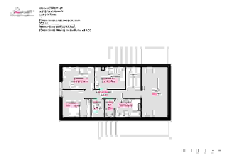 Casas de estilo moderno de HomeKONCEPT | Projekty Domów Nowoczesnych Moderno