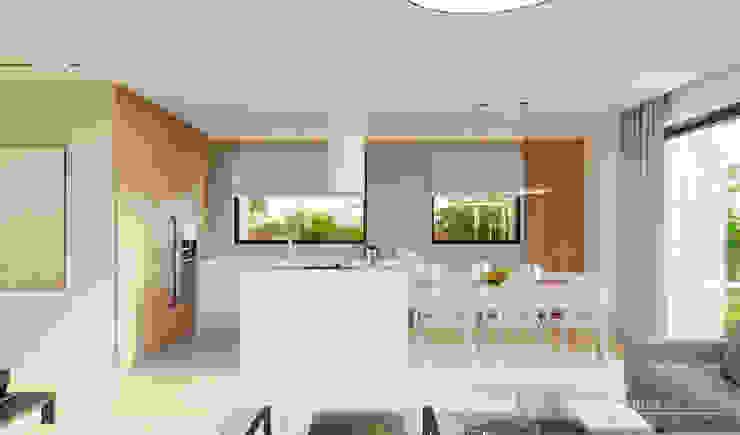 Salones de estilo moderno de HomeKONCEPT | Projekty Domów Nowoczesnych Moderno