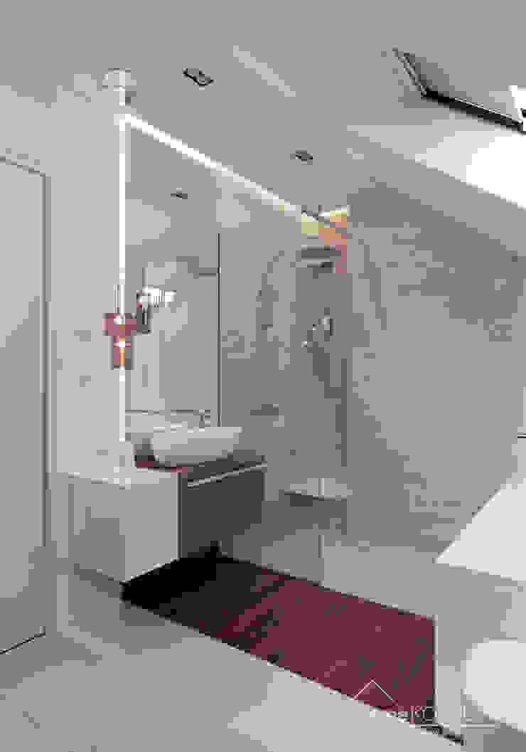 Baños de estilo moderno de HomeKONCEPT | Projekty Domów Nowoczesnych Moderno