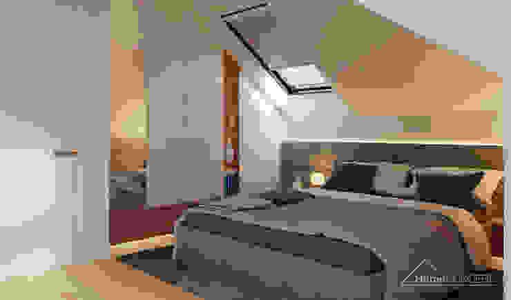 Chambre de style  par HomeKONCEPT | Projekty Domów Nowoczesnych, Moderne