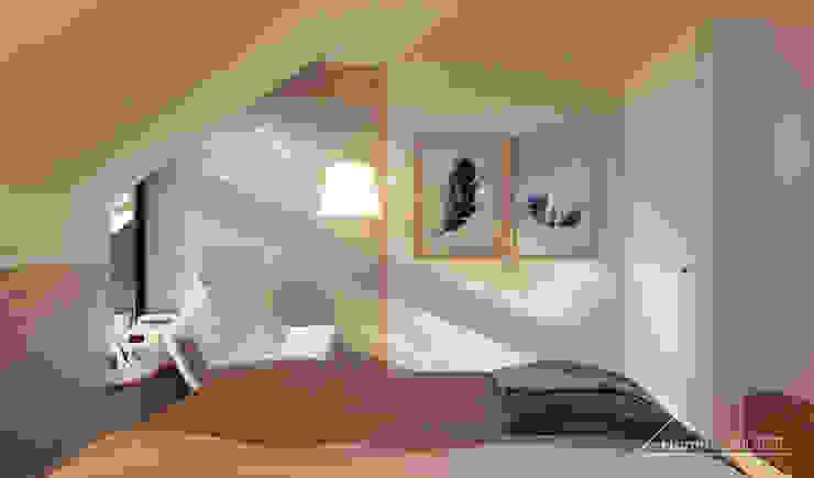 Dormitorios de estilo moderno de HomeKONCEPT | Projekty Domów Nowoczesnych Moderno
