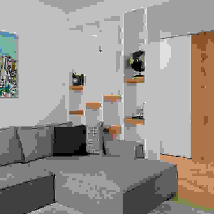 Salon de style  par QUADRASTUDIO, Moderne Bois Effet bois