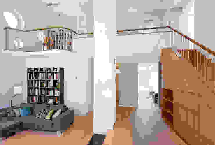 Galerie Moderne Wohnzimmer von Grotegut Architekten Modern Holz Holznachbildung