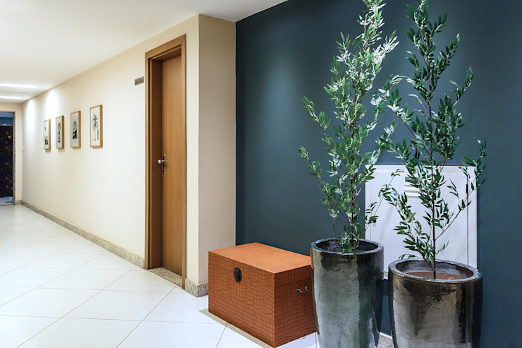 Condominio Puerto Madero DUE Projetos e Design Corredores, halls e escadas modernos Madeira Verde