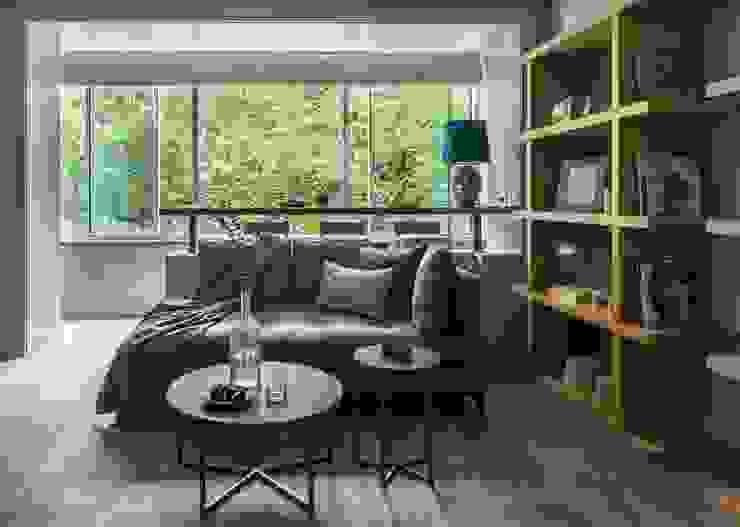 现代客厅設計點子、靈感 & 圖片 根據 Дизайн бюро Татьяны Алениной 現代風