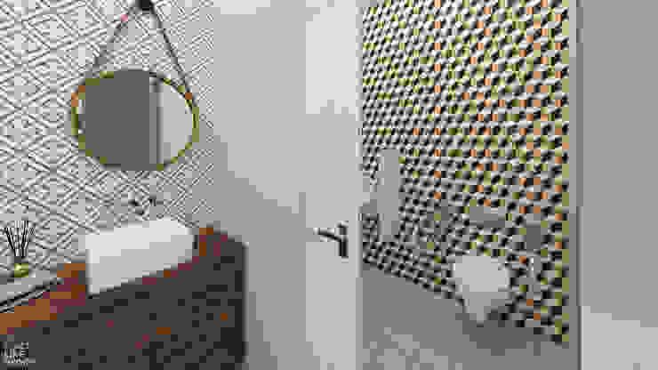 Casa de banho Espaços de restauração eclécticos por No Place Like Home ® Eclético
