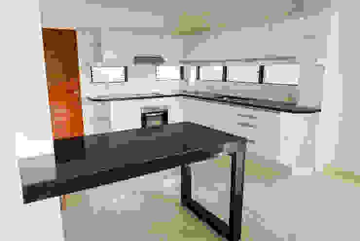 Black Galaxy Granite Kitchen Countertop at Cebu Royal Estates by Stone Depot Modern