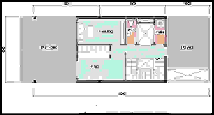 Casas de estilo asiático de Công ty TNHH TK XD Song Phát Asiático Cobre/Bronce/Latón