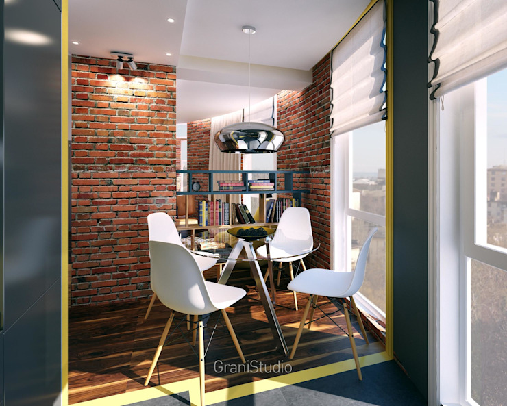 Dining room by GraniStudio, Industrial