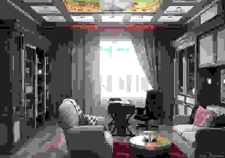 Ruang Studi/Kantor Klasik Oleh Студия интерьерного дизайна happy.design Klasik