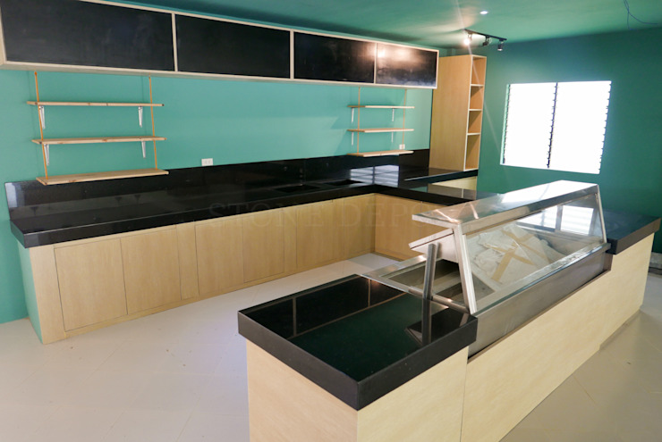 Black Galaxy Granite Kitchen Countertop in Toledo City by Stone Depot Modern