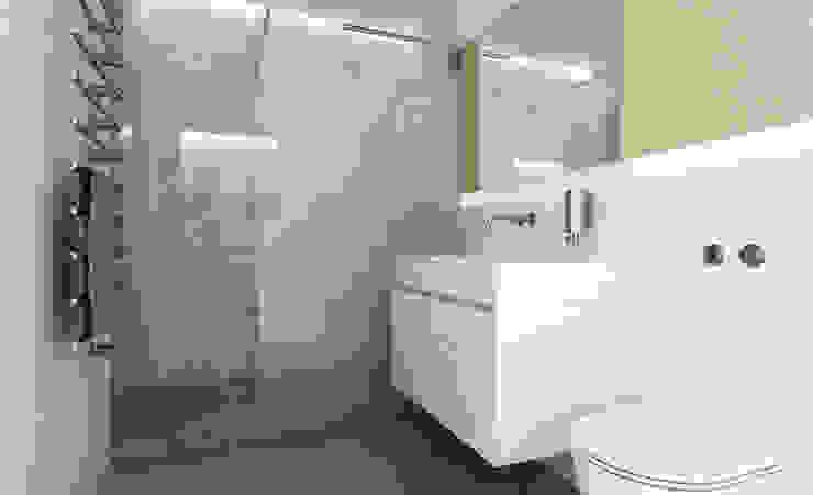 MINI BAD - ganz gross Moderne Badezimmer von URBANroom Modern Fliesen