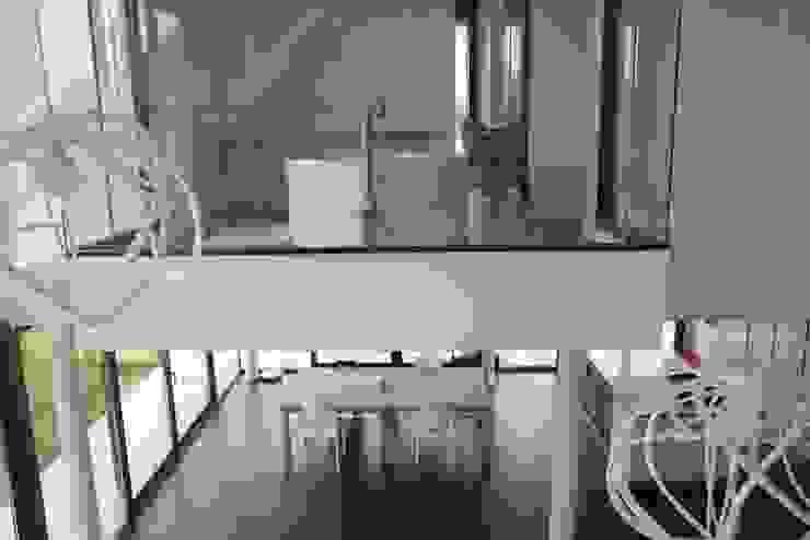 EC-Bois | Villa Carré | Bussy-Saint-Georges: Salle de bains de style  par EC-BOIS, Moderne Bois d'ingénierie Transparent