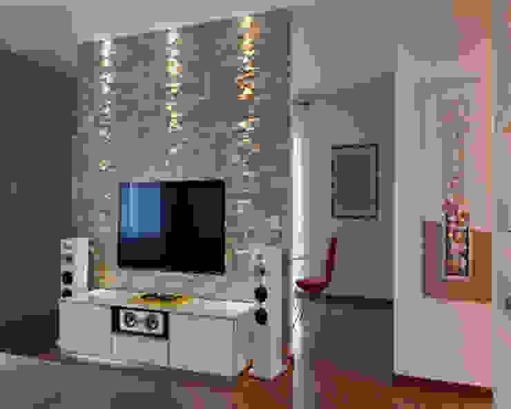 غرفة المعيشة تنفيذ ARCHITAG studio Architettura Torino, حداثي