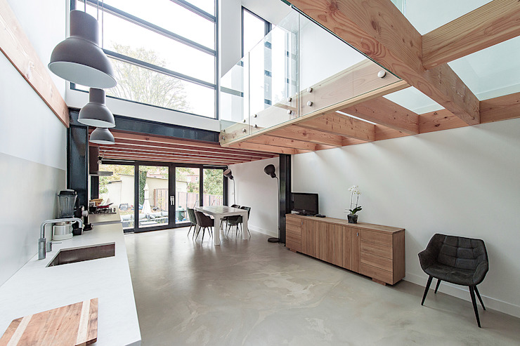 House Overveen Moderne keukens van Bloot Architecture Modern Glas