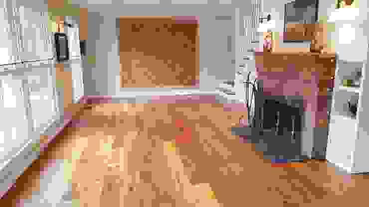 Shine Star Flooring Ruang Keluarga Gaya Rustic