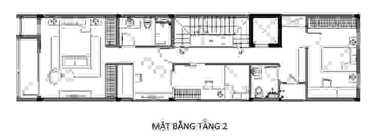 Maisons de style  par Công ty TNHH TK XD Song Phát, Asiatique Cuivre / Bronze / Laiton