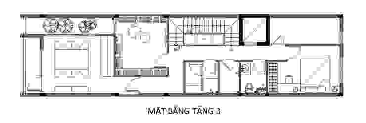 Casas familiares  por Công ty TNHH TK XD Song Phát , Asiático Cobre/Bronze/Latão