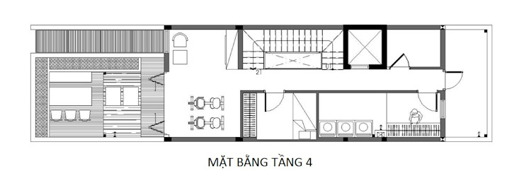 Single family home by Công ty TNHH TK XD Song Phát, Asian Copper/Bronze/Brass