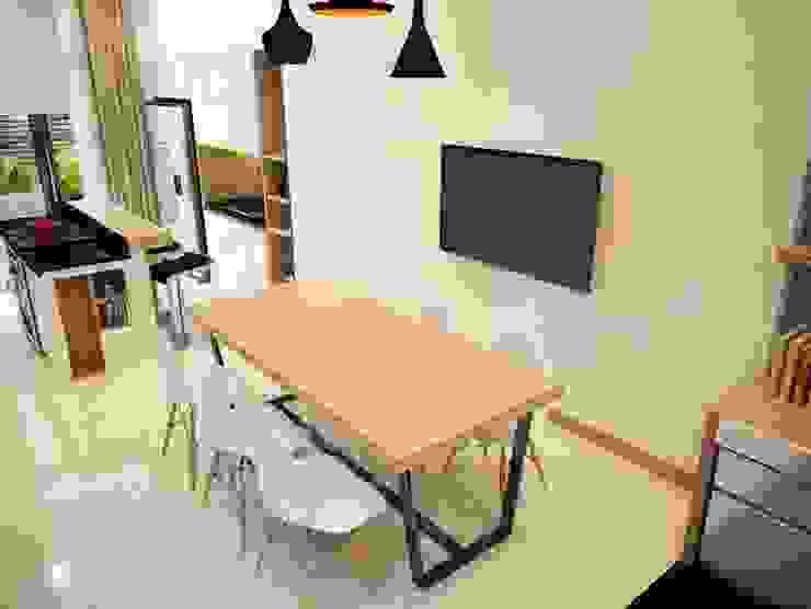 Salas de jantar  por Công ty TNHH TK XD Song Phát , Asiático Cobre/Bronze/Latão