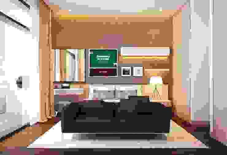 Một chiếc ghế sofa đơn giản nhưng vô cùng đẹp mắt. Phòng ngủ phong cách châu Á bởi Công ty TNHH TK XD Song Phát Châu Á Đồng / Đồng / Đồng thau