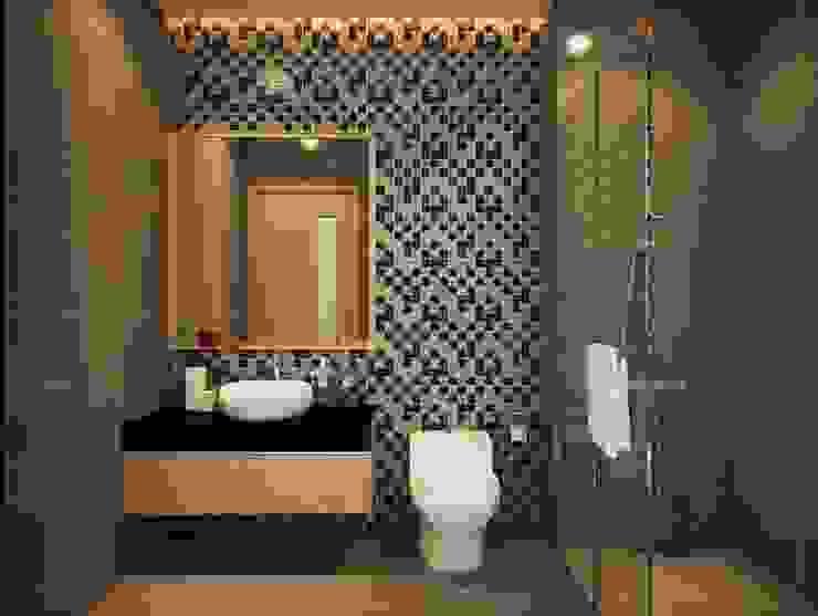 Phòng tắm đứng với thiết kế hiện đại mang đến sự sang trọng.:  Phòng tắm by Công ty TNHH TK XD Song Phát