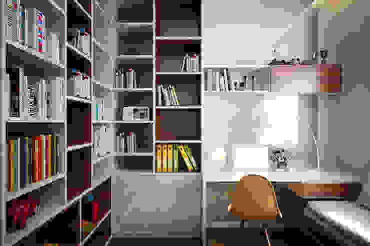 Oficinas y bibliotecas de estilo asiático de Công ty TNHH TK XD Song Phát Asiático Cobre/Bronce/Latón