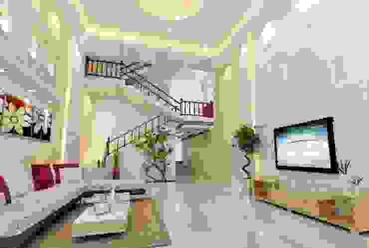 Living room by Công ty TNHH TK XD Song Phát, Asian Copper/Bronze/Brass