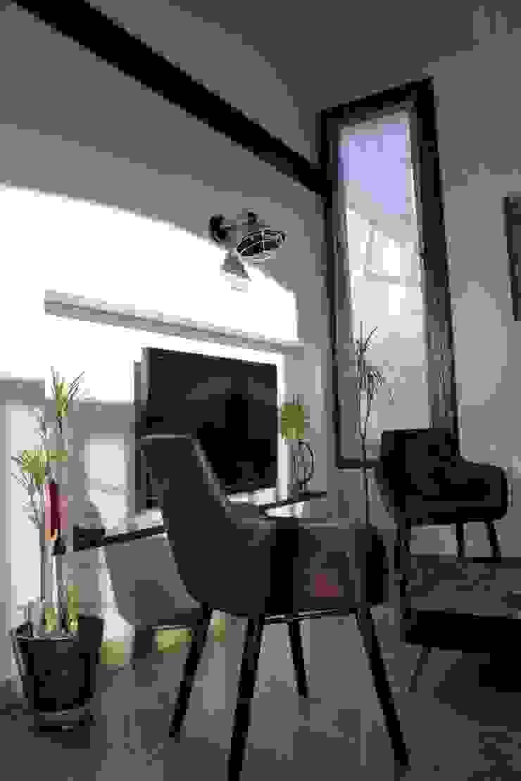 Industrialny salon od ABC Design d'Espace Industrialny