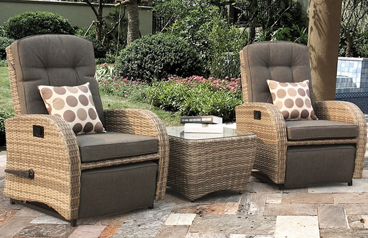 Rattan bistro set for indoors: modern  by Garden Centre Shopping UK, Modern