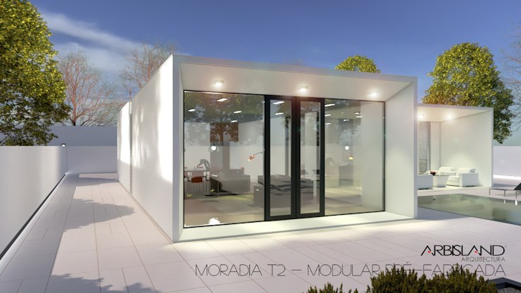 Casa Pré-fabricada T2 1 Piso - Portugal por homify Minimalista