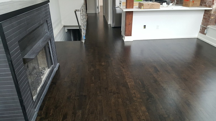 Maple Wood—Water Pop Ebony color Classic style dining room by Shine Star Flooring Classic