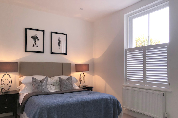 Cafe Style Shutters in the Bedroom Plantation Shutters Ltd BedroomAccessories & decoration Kayu White