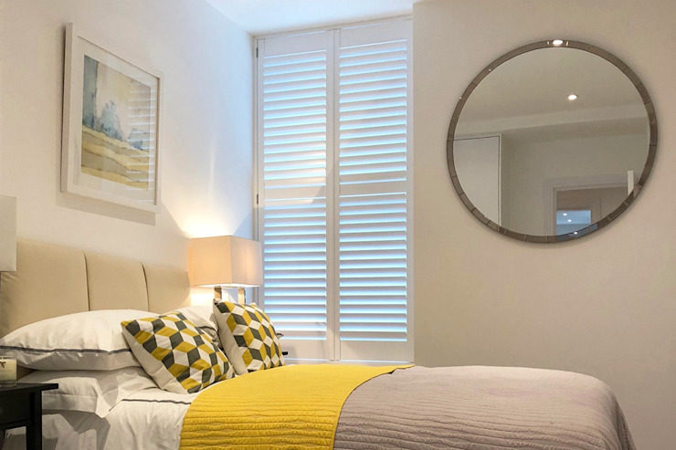 Full Height Shutters in the Bedroom Plantation Shutters Ltd BedroomAccessories & decoration Kayu White