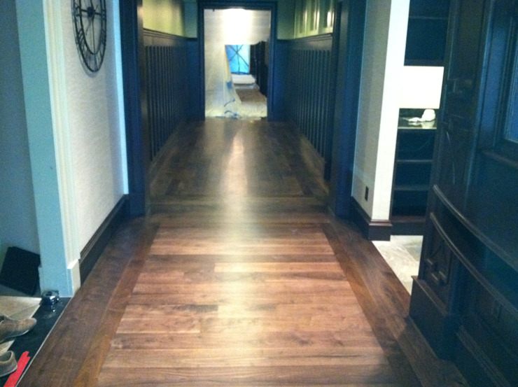 American Walnut Classic style corridor, hallway and stairs by Shine Star Flooring Classic