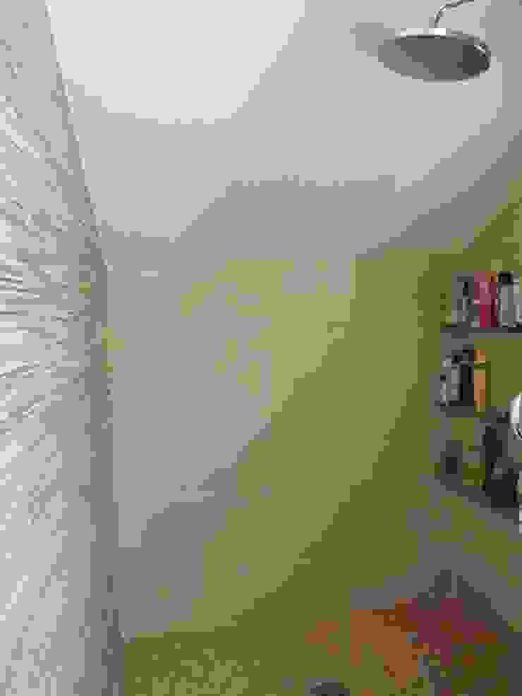 Reforma baño contemporáneo Almudena Madrid Interiorismo, diseño y decoración de interiores Baños de estilo moderno Azulejos Beige