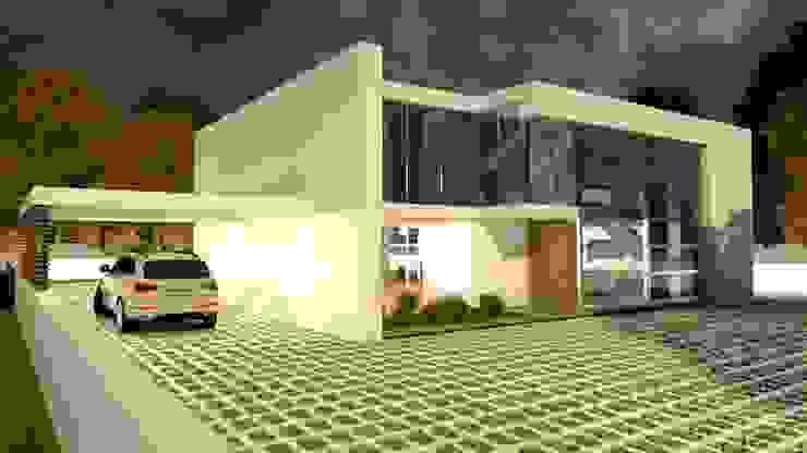 Moradia Pré-fabricada,T4 - 2 pisos. Model TP.01-T4-2P por homify Moderno