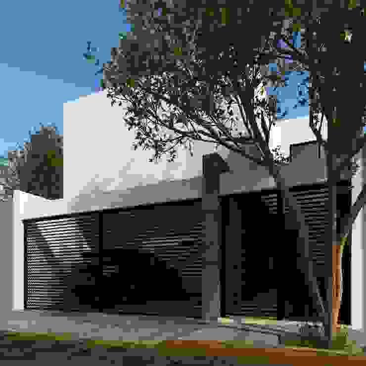 Fachada Principal Laboratorio Mexicano de Arquitectura Casas unifamiliares Concreto Blanco