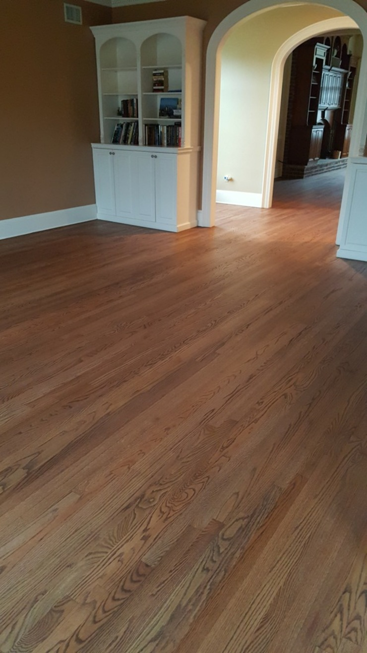 Red Oak with Rubio Monocoat finish Classic style dining room by Shine Star Flooring Classic