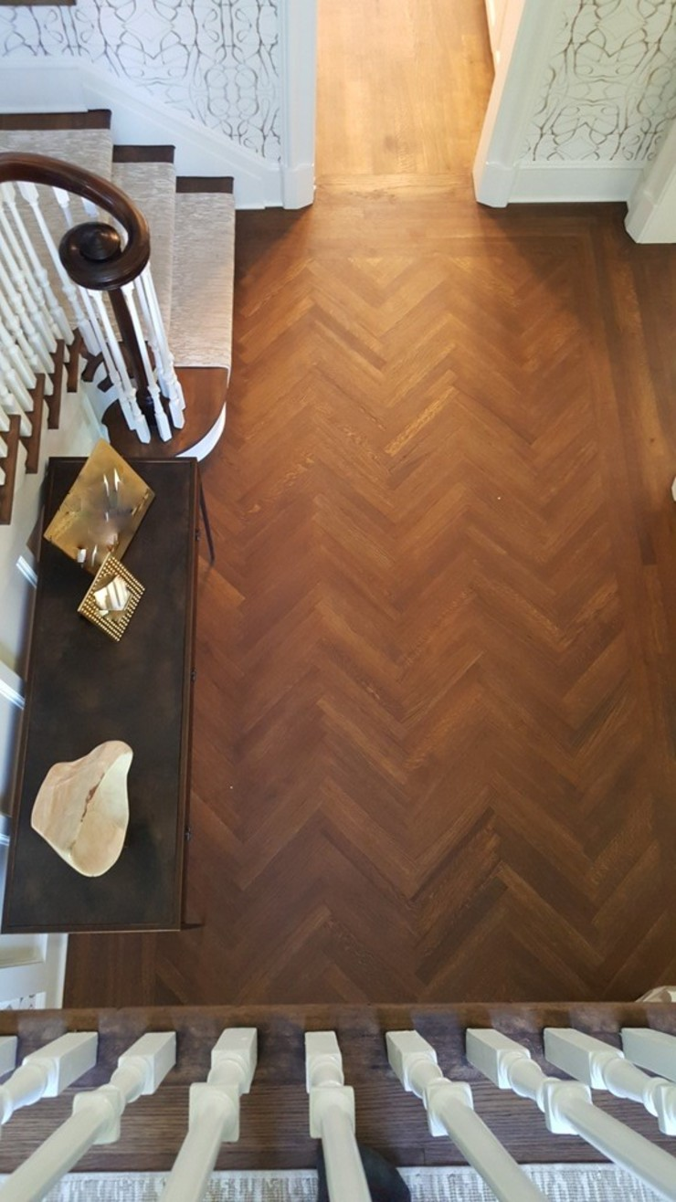 R&Q White Oak Classic style corridor, hallway and stairs by Shine Star Flooring Classic