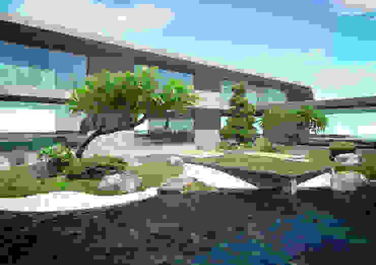 私宅景觀規劃示意圖 根據 宏藝設計工作室