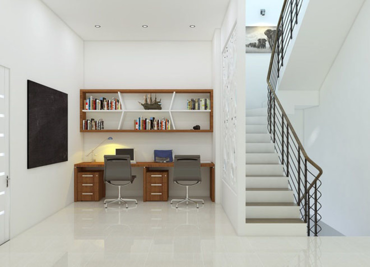Modern study/office by Công ty TNHH Xây Dựng TM – DV Song Phát Modern