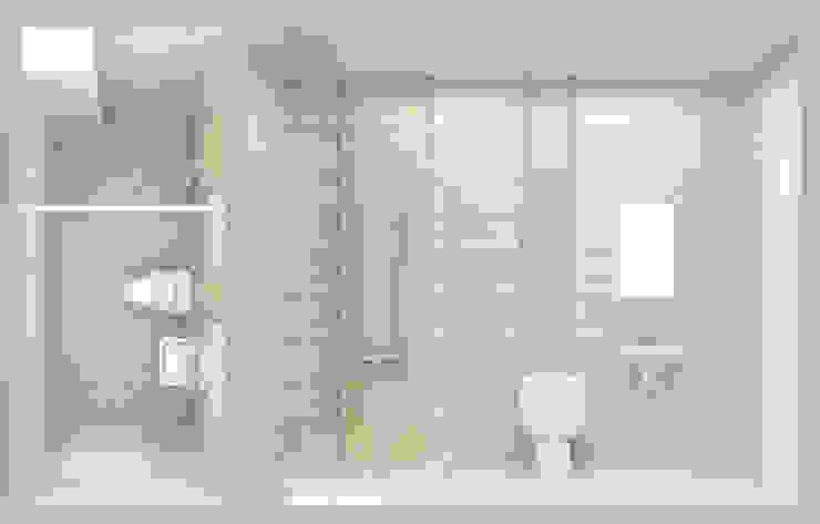Tư Vấn Thiết Kế Nhà Ống 3 Tầng 67m2 Hiện Đại, Đầy Tiện Nghi Phòng tắm phong cách hiện đại bởi Công ty TNHH Xây Dựng TM – DV Song Phát Hiện đại