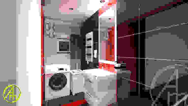 現代浴室設計點子、靈感&圖片 根據 AM PROJEKT Adrian Muszyński 現代風 磁磚