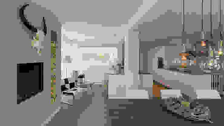 interieur woonhuis Moderne serres van CHORA architecten Modern