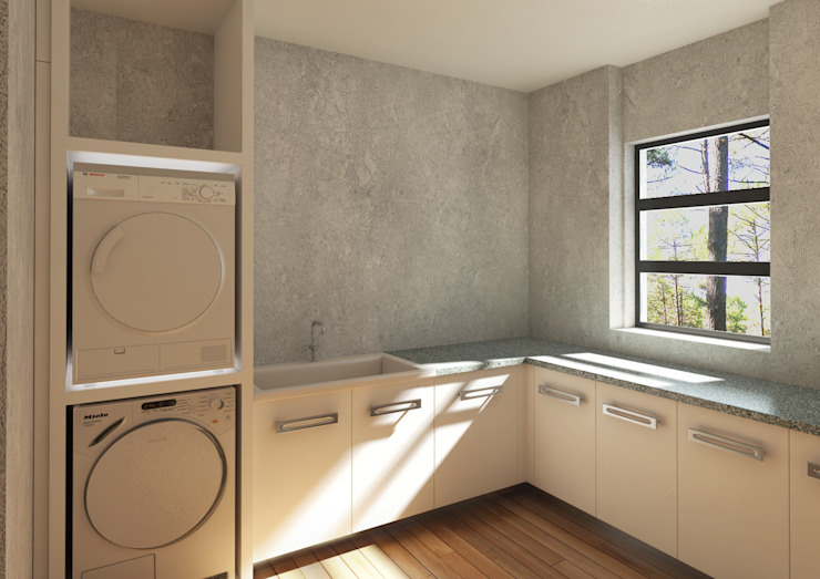 Lavanderia e guardaroba attrezzato 2mgdesignsolution Spogliatoio moderno
