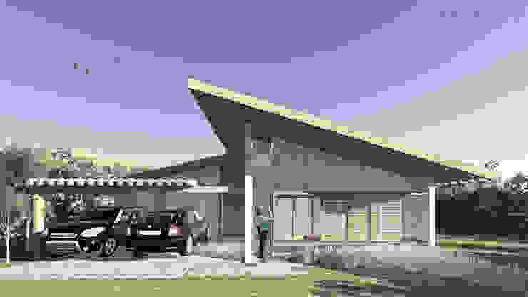 Casa da Fotógrafa - Fachada Frontal por ARAMADO arquitetura+interiores Rústico