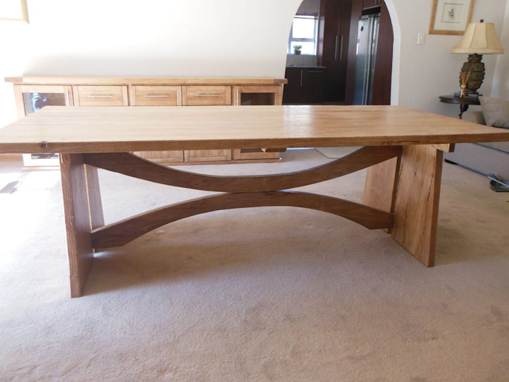 Double Dee dining room table: modern  by MELLOWOOD Furniture, Modern Wood Wood effect
